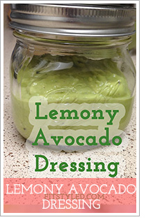 Lemony Avocado Dressing | FitStyled.com #fsSpringSeries