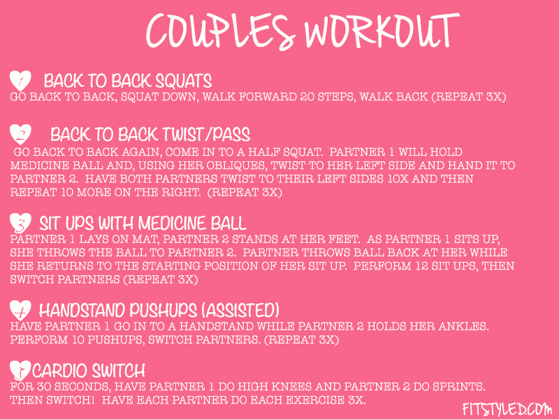 Couples Workout FitStyled.com